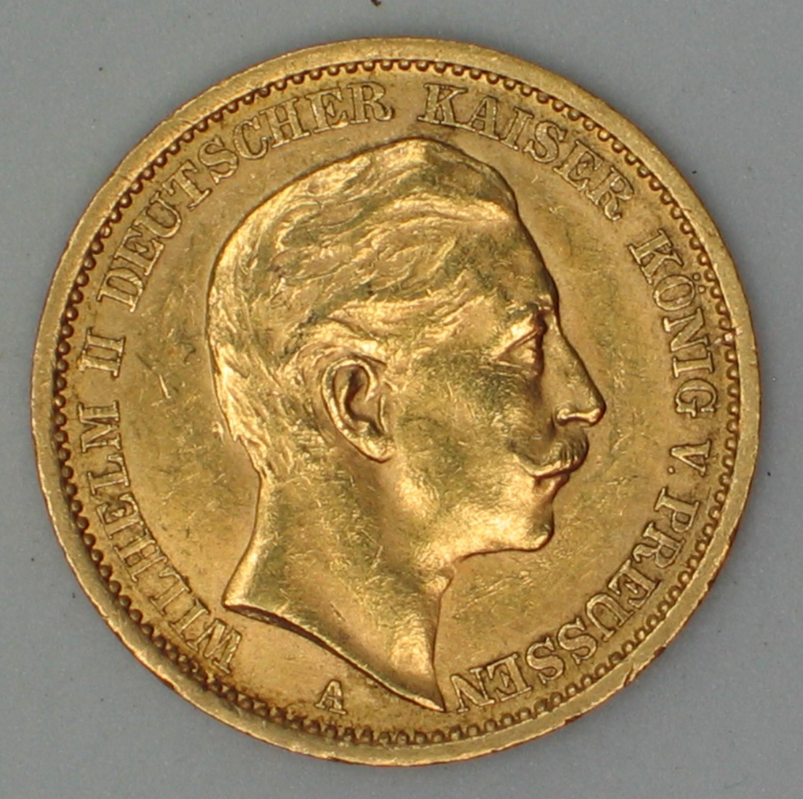Delgrey Edle Metalle Münzen 20 Markwilhelm Iireichsgold