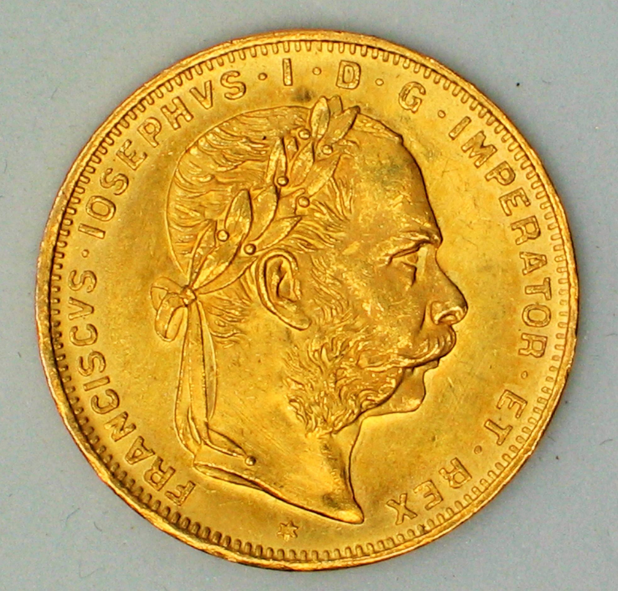 Delgrey Edle Metalle Münzen 4 Fl 10 Frösterreich1892kaiser
