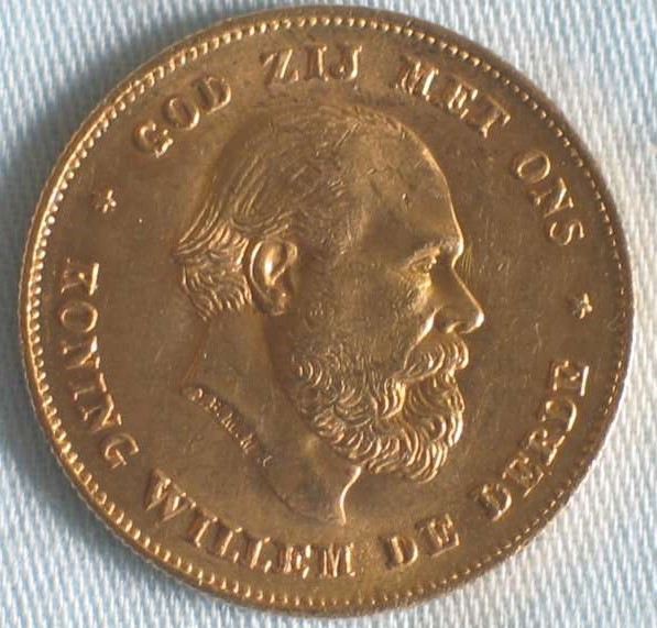 Delgrey Edle Metalle Münzen 10 Guldenwillem De Derde1875