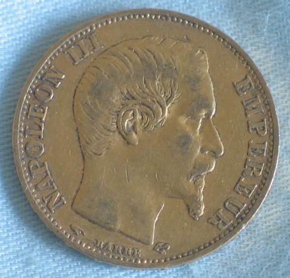 Delgrey Edle Metalle Münzen 20 Francsnapoleon Iii1858