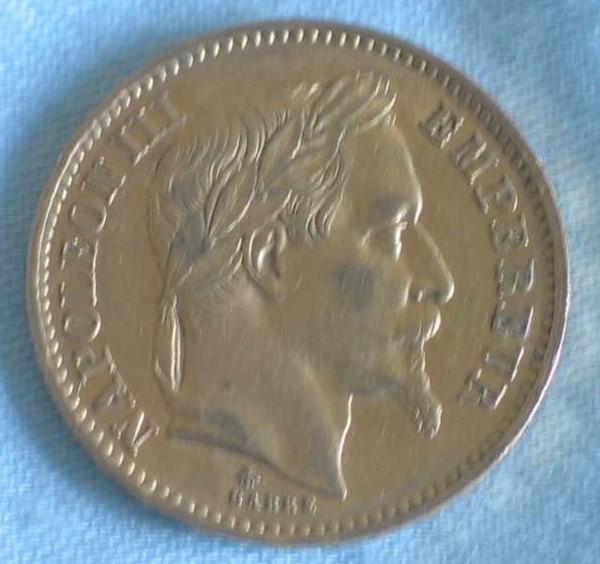 Delgrey Edle Metalle Münzen 20 Francsnapoleon Iii1866